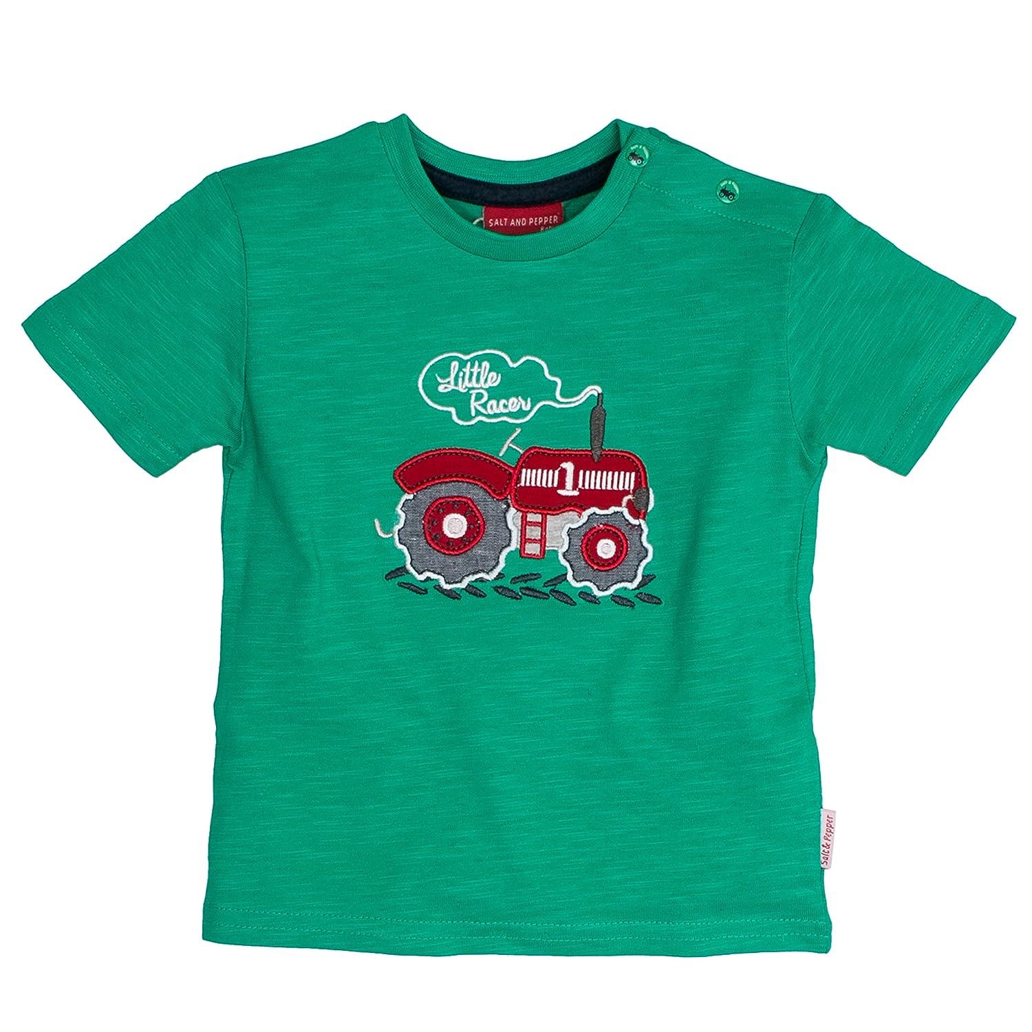 Farm Uni Traktor SALT AND PEPPER Baby-Jungen T-Shirt B L