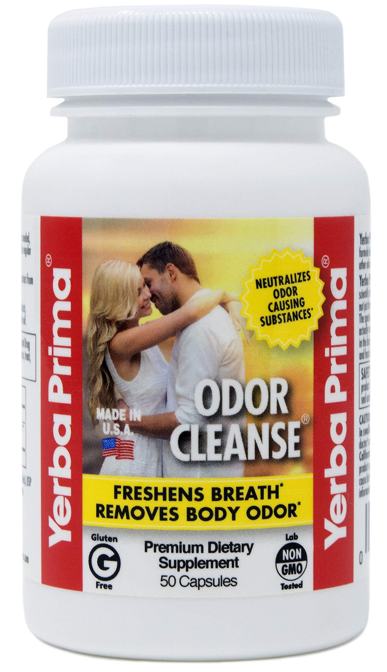 Yerba Prima Odor Cleanse, Breath and Body Capsules, 50 Capsules