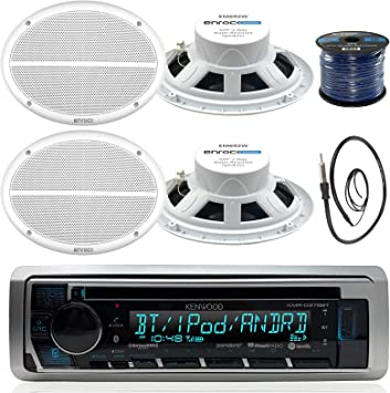 Kenwood KMR-D372BT Marine Bluetooth CD Player Receiver w//USB//Android//iPhone