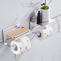 Hoomtaook toiletrolhouder zonder boren toiletrolhouder zelfklevende toiletrolhouder zonder boren, ruimte aluminium…