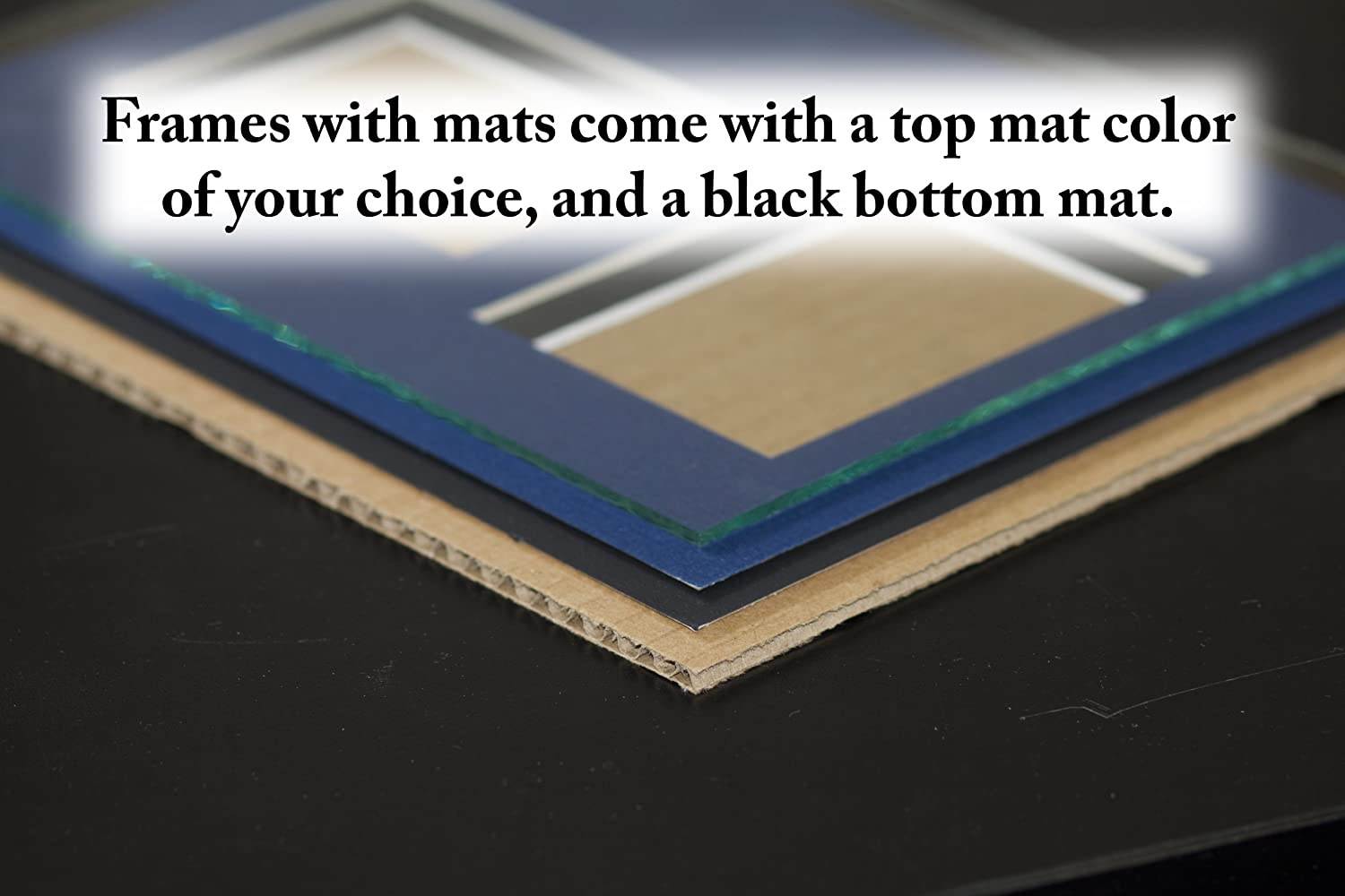 Art to Frames Double-Multimat-734-89//89-FRBW26079 Collage Photo Frame Double Mat with 1-18x22 Openings and Satin Black Frame