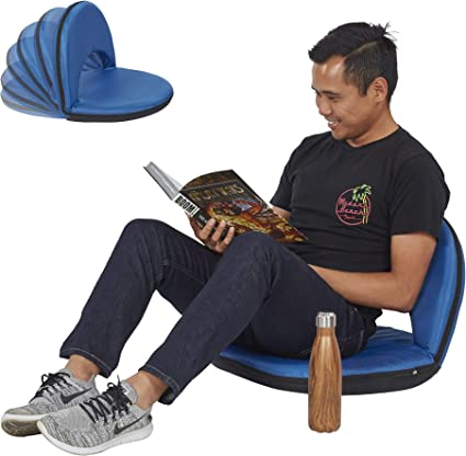 Portable Flexible Seating with 6 Backrest Positions Blush Spectator Floor Chair with Adjustable Back Support Meditation Indoor or Outdoor Classroom Camping Stadium Seat by ECR4Kids Gaming