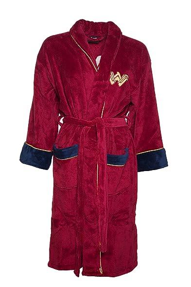 Womens Red Wonder Woman DC Comics Batman V Superman Dressing Gown at ...