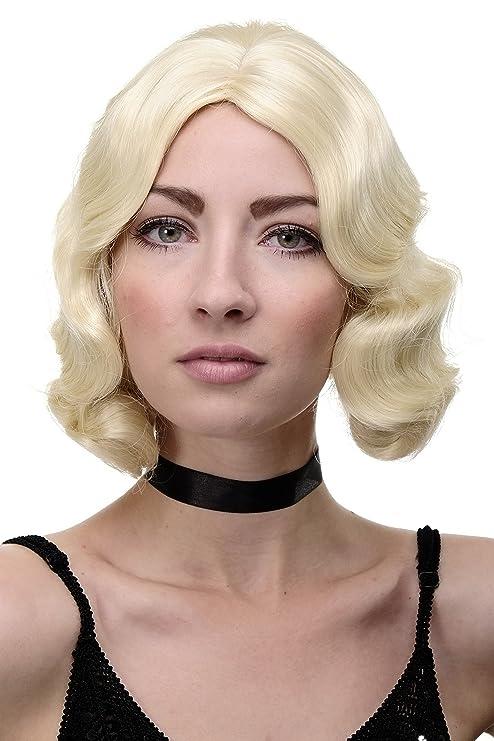 WIG ME UP ® - GFW1726-88 Peluca mujer Cosplay calidad corto años 20 Hollywood