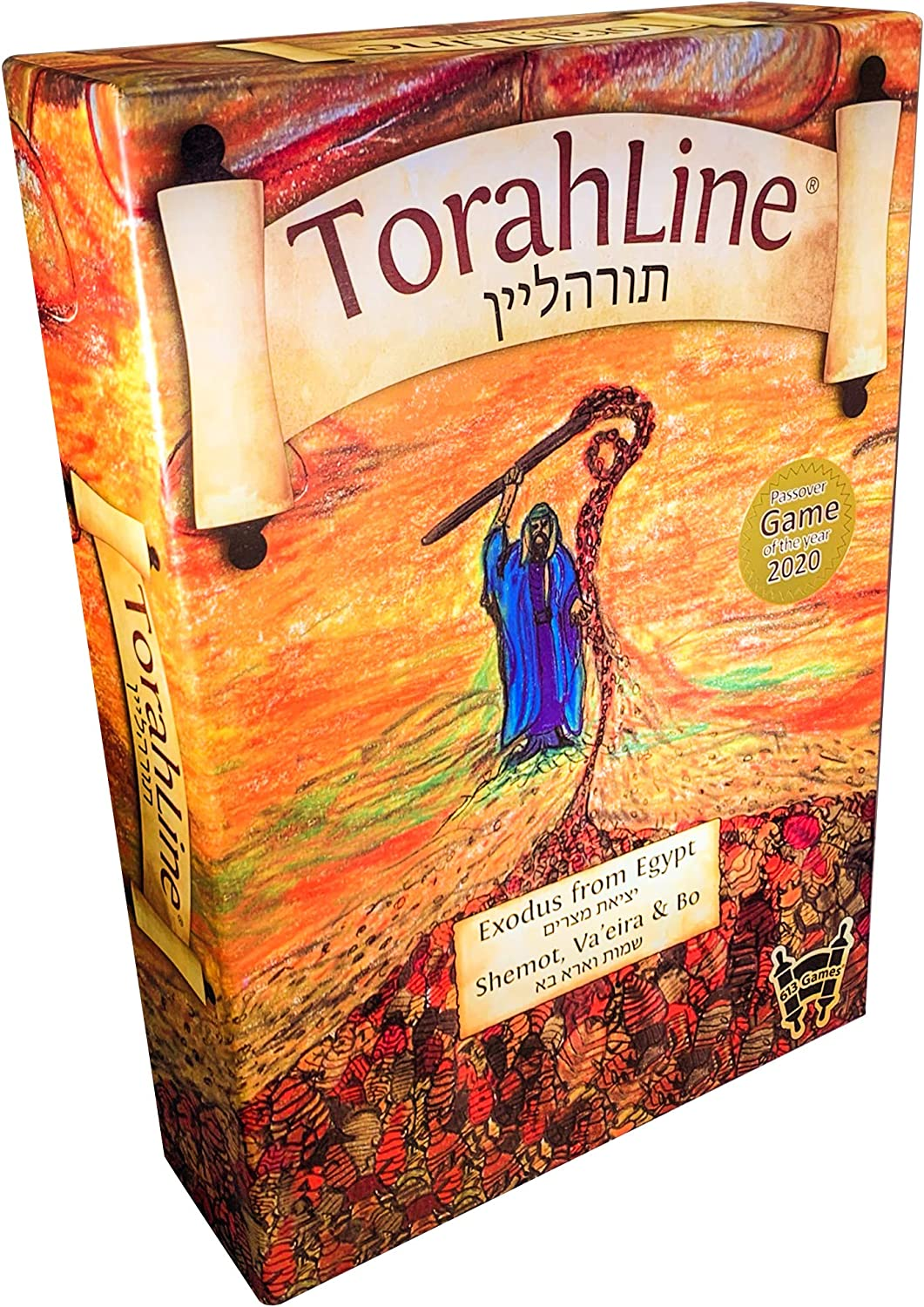 TorahLine Game for Passover (English/Hebrew Jewish Toy)