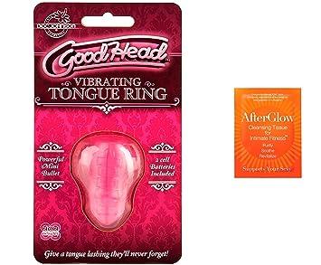 Amazoncom Bundle 2 Items Good Head Vibrating Tongue Ring 5 Pack