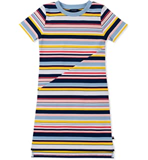 8389a37a9f382 Amazon.com: Tommy Hilfiger Kids Womens Remy Rainbow 2 Slide (Little ...
