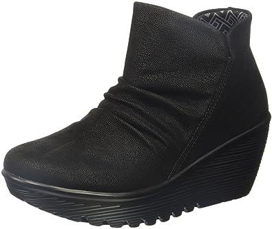 Skechers Women's Parallel-Dusk Ankle Bootie,Black,5 ...
