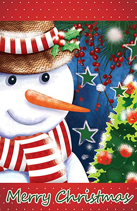 morigins snowman christmas tree double sided winter house flag 28quot