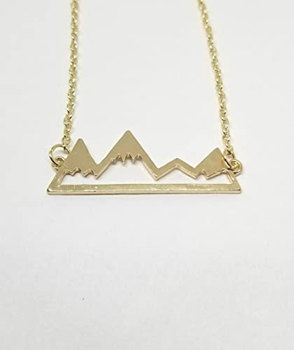 1b9d4770174ce Mountain Range Necklace, The Mountains are Calling I Must Go, Gold Mountain  Necklace, Nature, Adventure Awaits
