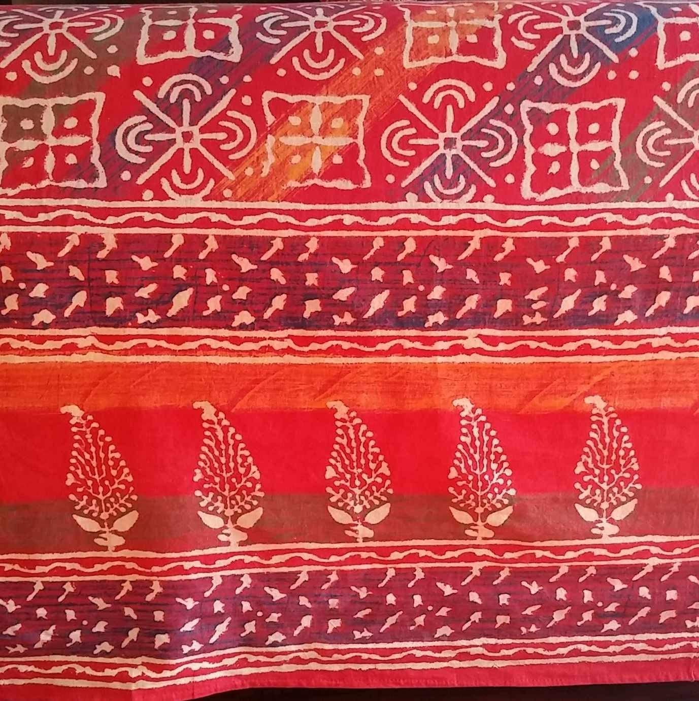 India Arts Handmade Cotton Hand Block Print Dabu Floral Tapestry Tablecloth Bedspread Throw Beach Sheet Sun Canopy Full