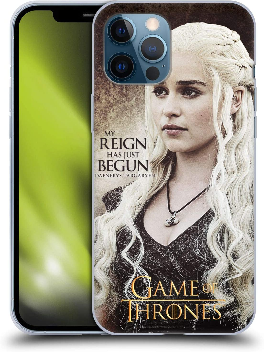 Head Case Designs Officially Licensed HBO Game of Thrones Daenerys Targaryen Quotes Soft Gel Case Compatible with Apple iPhone 12 Pro Max