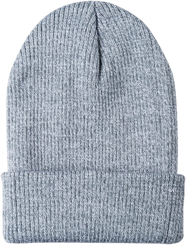 Mens Womens Warm Woolen Knitted Slouch Hat Slouchy Beanies Hat Hats Stretch Fit