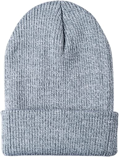Oliked Oliked Unisex Winter Knitting Wool Hat Soft Stretch Cable Knit Hats Beanie