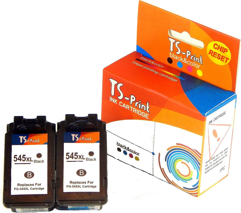 TS-Print 2 Cartuchos de Tinta PG-545XL (2BK) Reemplazo ...