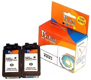 TS-Print 2 Cartuchos de Tinta PG-545XL (2BK) Reemplazo Remanufactured Canon PIXMA MX495 MX490 iP2800 iP2850 iP2840 iP2855 MG2400 MG2450 MG2500 MG2550 ...
