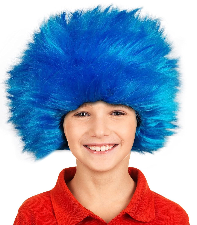 Amazon.com: Cosa 1 Cosa 2 Peluca de los niños de pelo, Thing ...