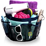 Fancii Portable Mesh Shower Caddy Tote for College Dorm, Quick Dry, 7 Large Storage Pockets & Key Hook - Hanging Bath & Toiletry Organizer Bag, Travel, Gym & Camping