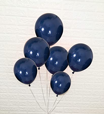 Amazon.com: Globos de fiesta de látex, color azul marino ...