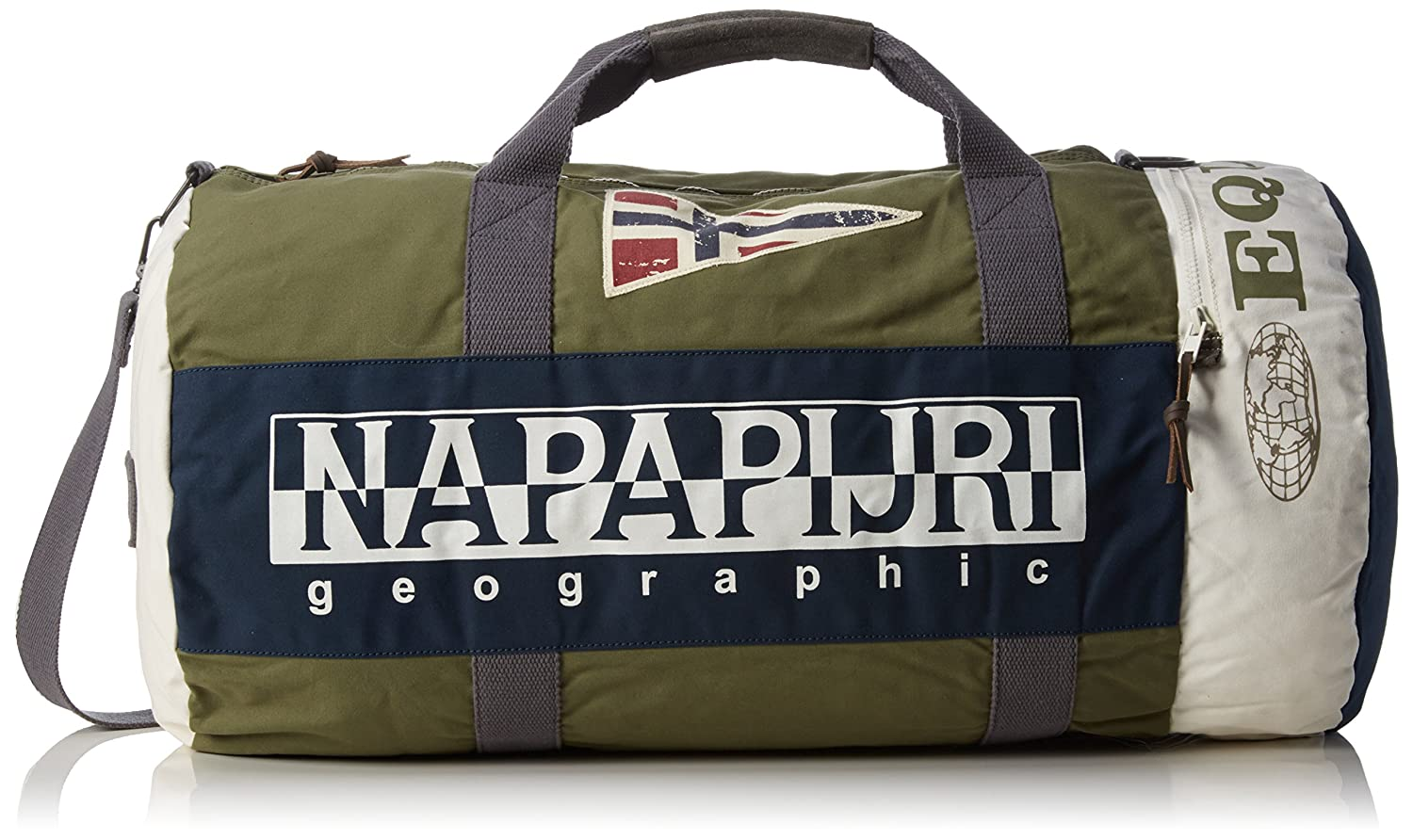 Napapijri Men s EQUATOR EVO Shoulder Bag Green Grün (LIGHT OLIVE GA6)   Amazon.co.uk  Luggage 3f2428ffb7ed