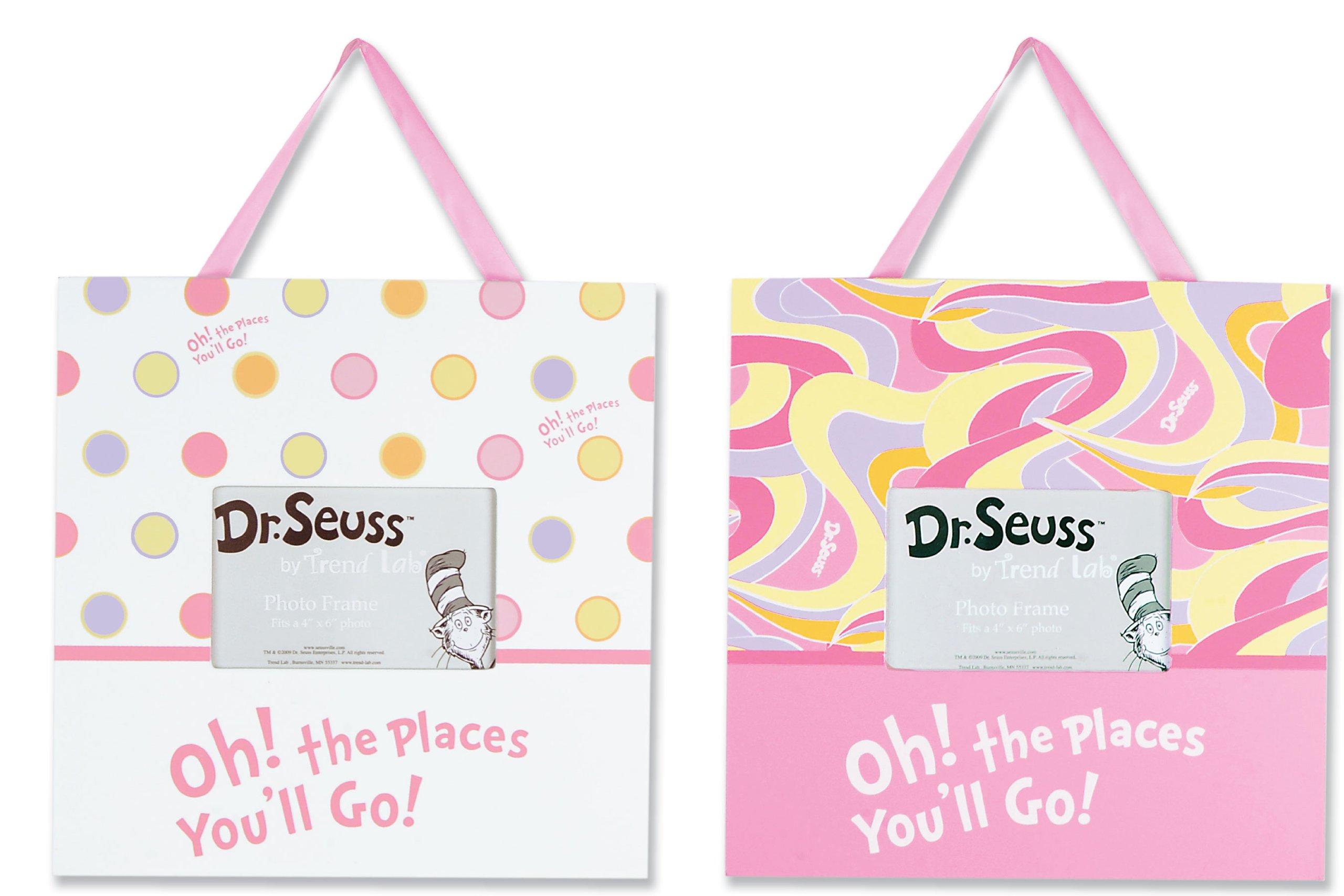 Amazon.com : Trend Lab 2 Piece Dr.Seuss Frame Set, Oh! The Places ...