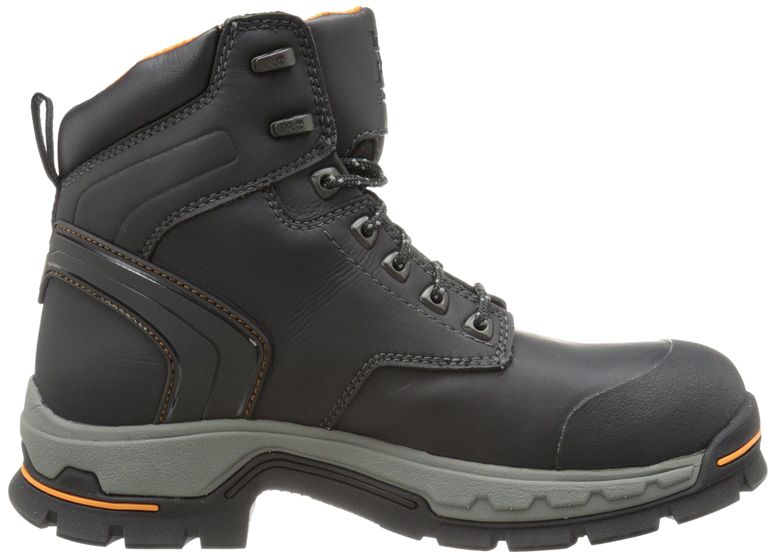 Timberland PRO Men's 6 Inch Stockdale Grip Max Alloy Toe Work and Hunt Boot, Black Microfiber, 5.5 M US by Timberland PRO (Image #7)