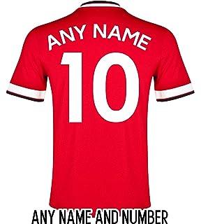 1e9b6866f Kids Personalised Contrast Sport T Shirt Team Kit Football PE Gym ...