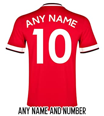 a6ce6f65c FOOTBALL SHIRT NAME AND NUMBER  Amazon.co.uk  Clothing