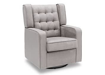 Exceptional Delta Furniture Paris Upholstered Glider Swivel Rocker Chair, Dove Grey