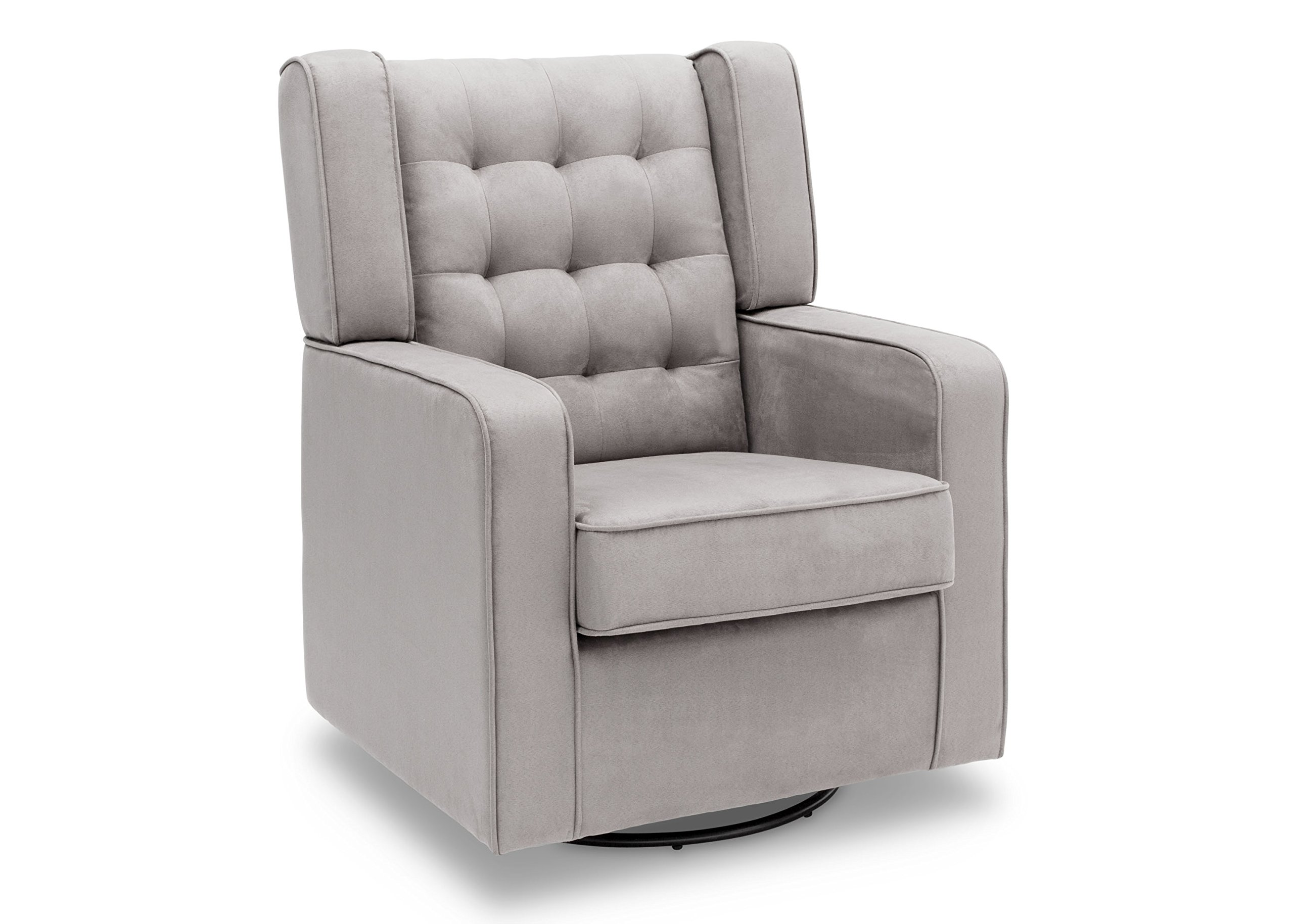 Delta Furniture Paris Upholstered Glider Swivel Rocker Chair, Dove Grey