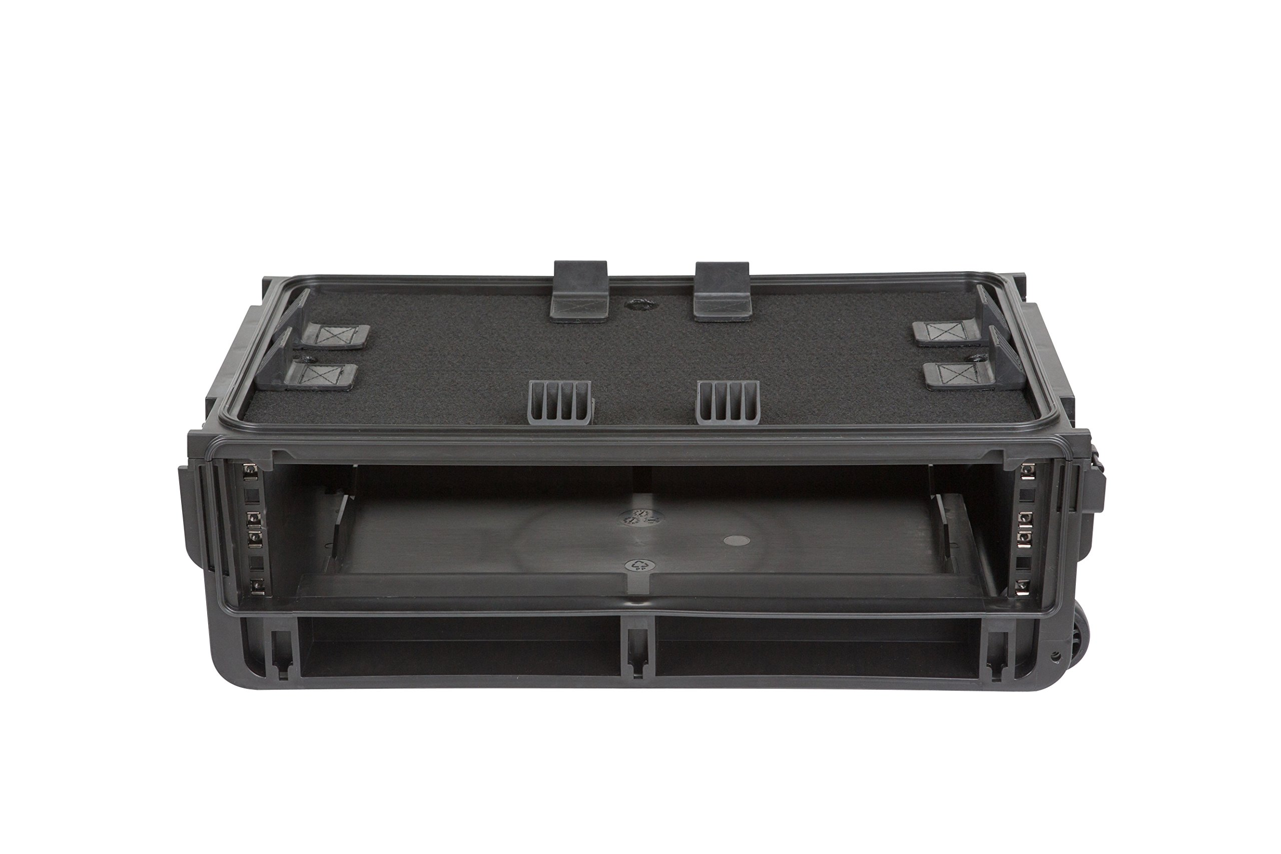 SKB Injection Molded Professional 2U Studio Flyer Rack Case-19 L x 3.5'' H x 11.5'' W (1SKB-ISF2U)
