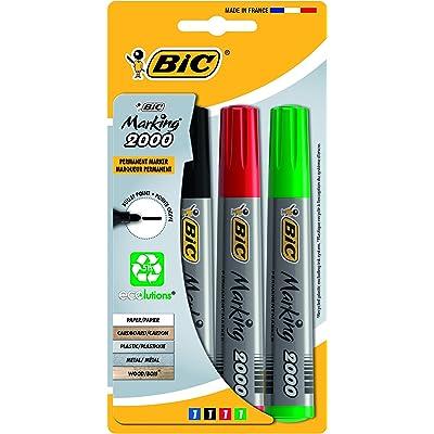 BIC Marking 2000 Ecolutions - Blíster de 4 marcadores permanentes