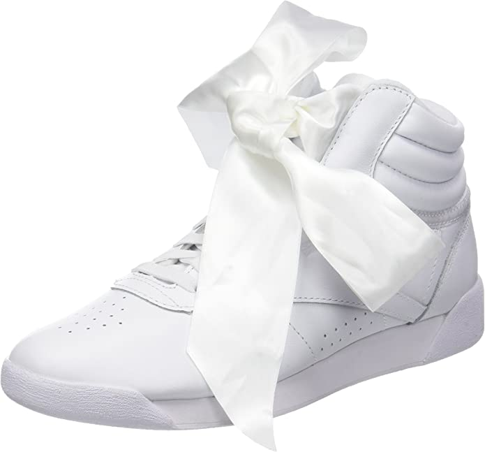 Reebok Freestyle Hi Sneakers High Top Damen Seidenschleife Weiß
