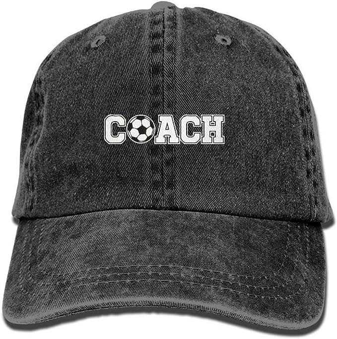 RZM YLYs Soccer Coach Gorra de béisbol Ajustable de Mezclilla ...