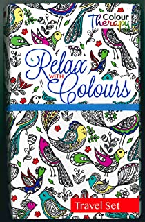 Colour therapy Travel Colouring Kit: Amazon.co.uk: Office Products