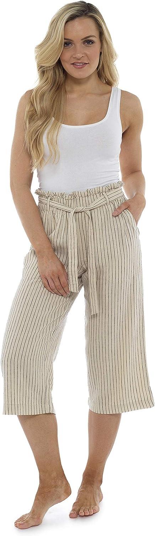 Longitud De 3 4 Tallas Grandes Mujer Pantalones Cargo Con La Cintura Alta A La Moda Con Lazo Y Pliegues Citycomfort Pantalones De Lino Para El Verano Pantalones Mujer De Traje De Fiesta