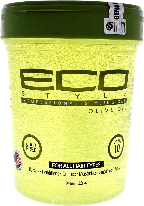 Eco Style Gel de peinado con aceite de oliva Ampliación de 946ml