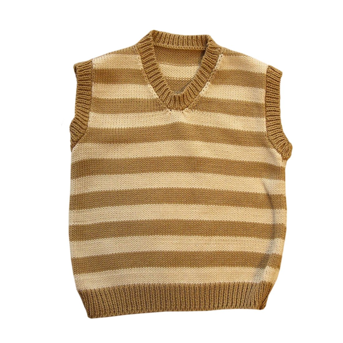 100% Laine de mérinos Gilet tricoté Bébé nourri sson bambin enfants Rayé