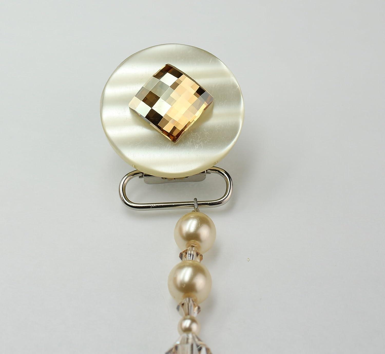 Crystal Dream - Chupete unisex de color beige con perlas de ...