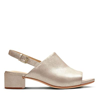 5f563e1f83f6 Clarks Orabella Ivy Leather Sandals in Champagne Standard Fit Size 3 Beige