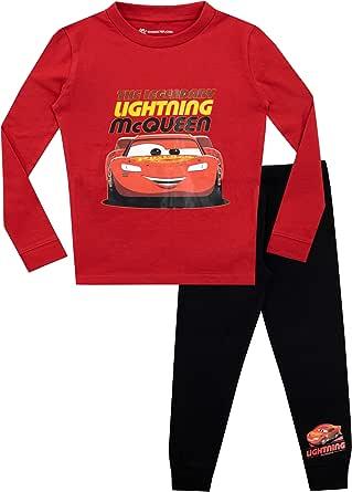 Disney Pijamas de Manga Larga para niños Cars Ajuste Ceñido