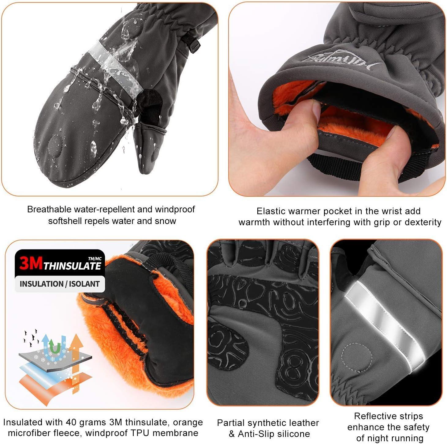 /& Fleece Gloves Palmyth Magnetic Flip Mitt XL XL