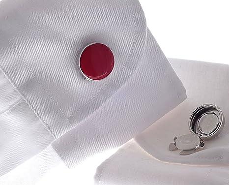 Cubre Botones Rojo – La Alternativa a Los Gemelos Para Camisas Ordinarias: Amazon.es: Ropa y accesorios