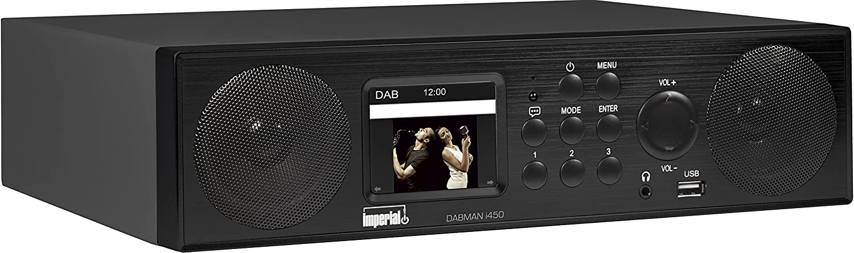 Imperial 22 245 00 Dabman I450 Internet Dab Radio 2 1 Sound Bluetooth Internet Dab Dab Ukw Wlan Lan Usb Aux In Line Out Inkl Netzteil Schwarz Heimkino Tv Video