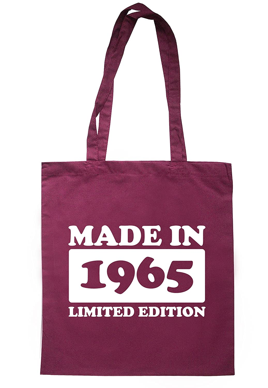 illustratedidentity Made In 1965 Limited Edition Tote Bag 37.5cm x 42cm with long handles TB1728-TB-NV