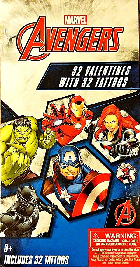Marvel Avengers 32 Tarjetas de Intercambio de San Valentín con 32 ...