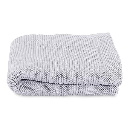 Chicco - Manta tricot para cuna, color gris (Light Grey)