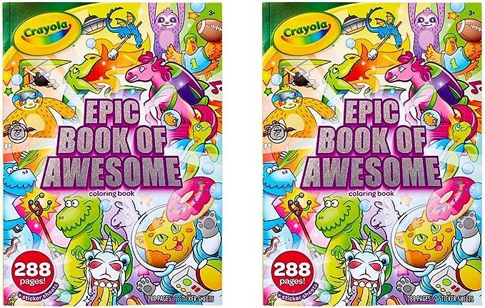 Crayola Children A4 Book Scrapbook multi coloured pages creative Fun New Book