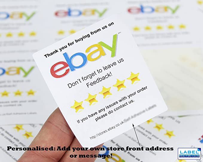 Label metrics personalised ebay thank you reminder labels stickers 12 per sheet 5 sheets amazon co uk office products