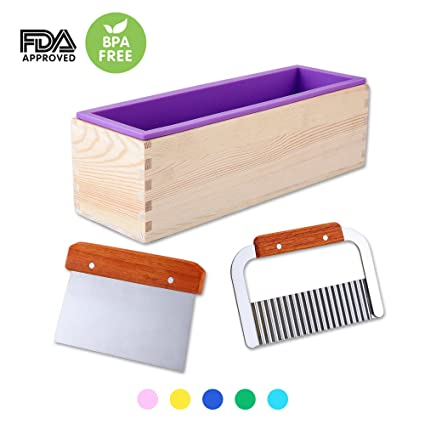 .com: 1 purple flexible rectangular silicone soap mold with ...